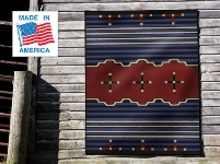 Rug hanging on wall - Red and Blue Big Chief design